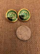 Load image into Gallery viewer, Repurposed Emma Button Earrings