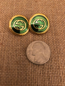 Repurposed Emma Button Earrings