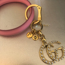 Load image into Gallery viewer, Repurposed Pretty In Pink Keyring
