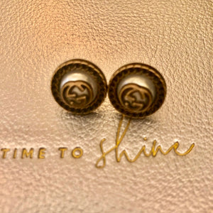Repurposed Genesis Button Earrings
