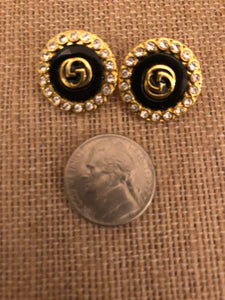 Repurposed Olivia Button Earrings