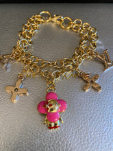 Load image into Gallery viewer, Vivian repurposed charm bracelet