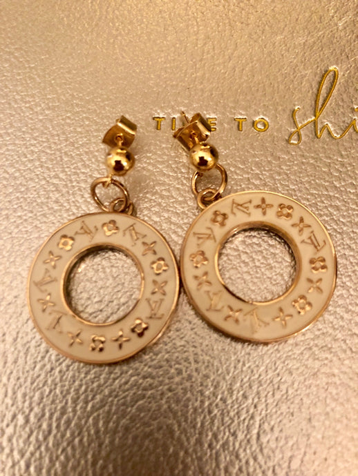 Repurposed Ellie Charm Earrings