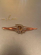 Load image into Gallery viewer, Repurposed Genevieve Hair Pin Rose Gold