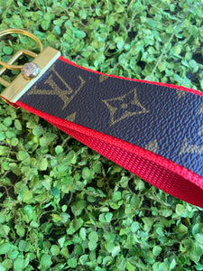 Blood Orange repurposed wristlet keychain