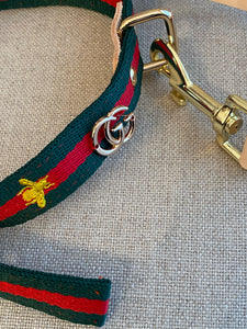 Designer inspired leash and collar set