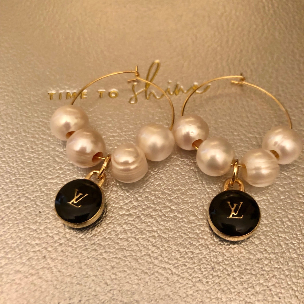 Repurposed Sadie Pearl Hoops