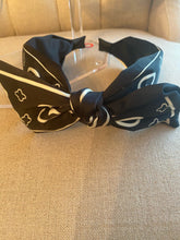 Load image into Gallery viewer, Designer Inspired Black Cream Bow Headband