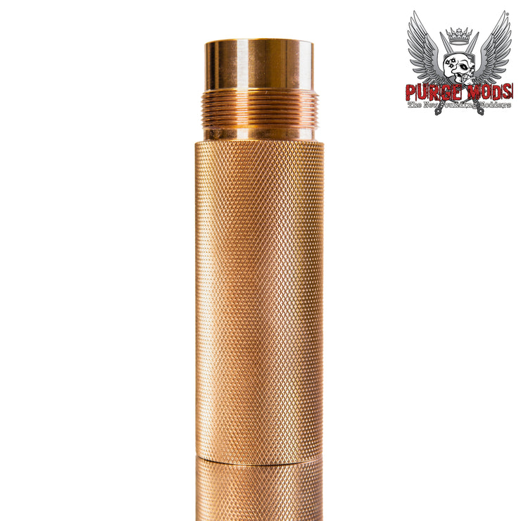21700 Knurled Stack Tube- Copper