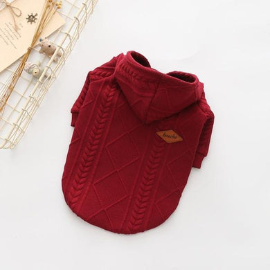 Cute Red Stylish Dog Sweater