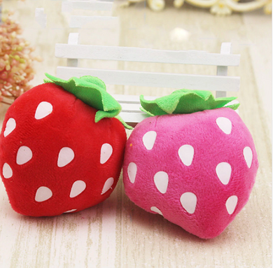 Strawberry Squeaky Plush Toy