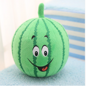 Squeaky Watermelon Plush Toy