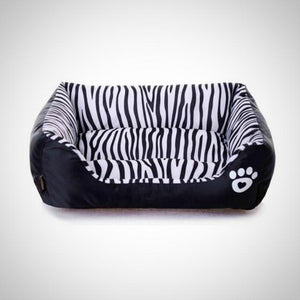 Zebra Printed Dog Bed
