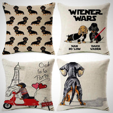 Load image into Gallery viewer, Dachshund Dog Cushion Covers (Multiple Designs)