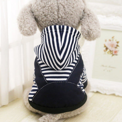 Striped Hoody With Overalls