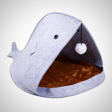 Felt Shark Shape Fold-able Dog House