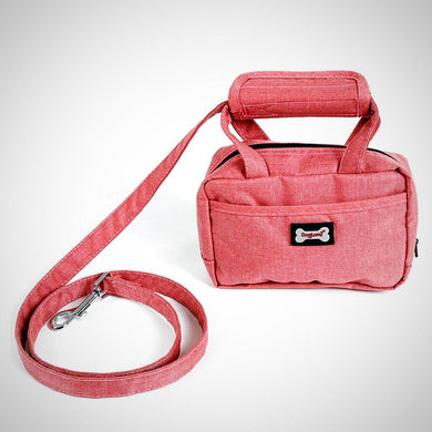 Leash With Training Pouch Attachment