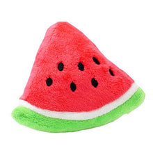 Load image into Gallery viewer, Squeaky Watermelon Plush Toy