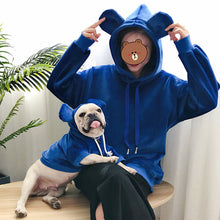 Load image into Gallery viewer, For Us & Them Blue Teddy Bear Hoody