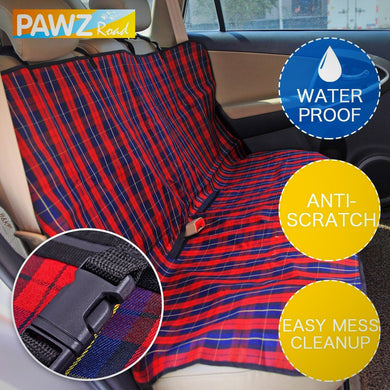 Red Plaid Car Seat Protector