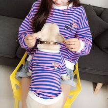 Load image into Gallery viewer, For Us & Them Purple Striped Pullover