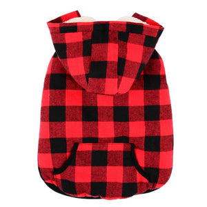 Warm Plaid Hoody