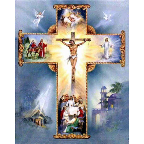 Jesus on cross diamond painting