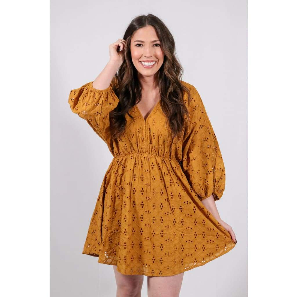 Harvest Moon Eyelet Dress - Dresses