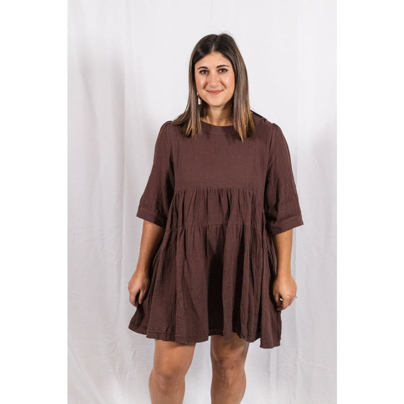Tiered Tunic Dress - Dresses