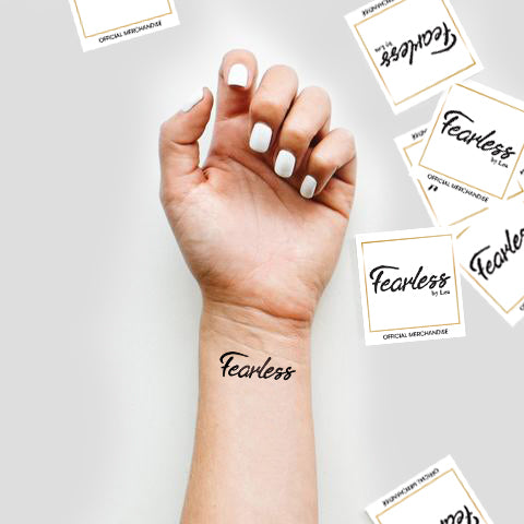 Waterless Fearless Tattoos - 7 tattoos per pack