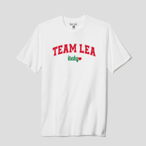 Unisex Adult Team Lea Italy T-Shirt White