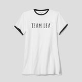 Ladies Team Lea Ringer T-Shirt White