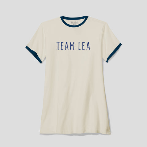 Ladies Team Lea Ringer T-Shirt Cream