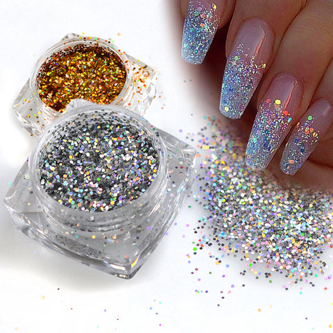 paillettes strass nail art facile