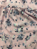 Copper Key Girl's Lavender Floral Bell Sleeves Polyester Blouse Top Size L