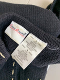 Bobbie Brooks Women's Black Celebration Metallic Knit Sweater Size L