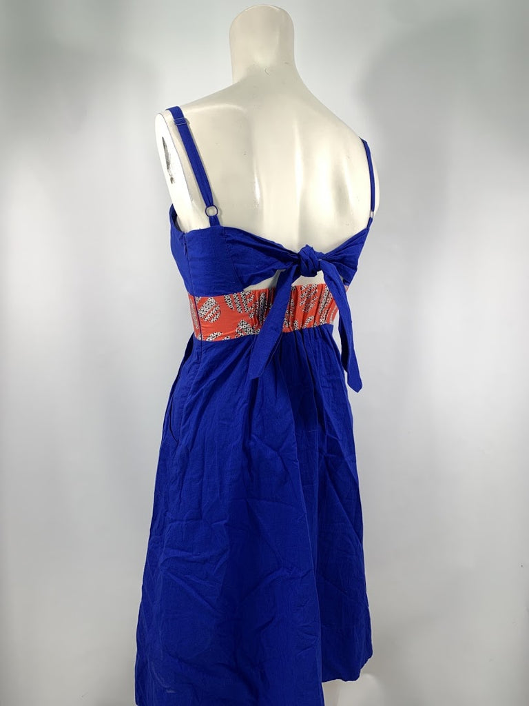 Edme & Esyllte Women's Blue Anthropologie Spaghetti Strap A-Line Dress Size 0