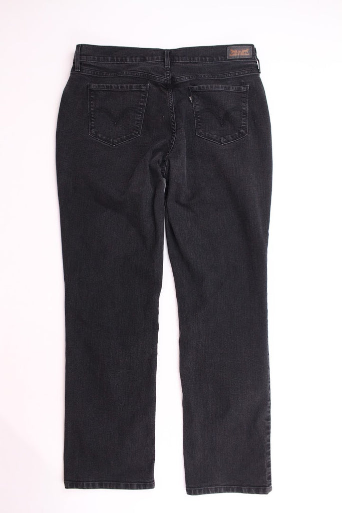 Levi's Women's Black Stretchy Straight Leg Jeans Size 12