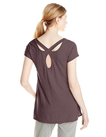 Gramicci Women's Eva T-Shirt, Large, Mink Brown