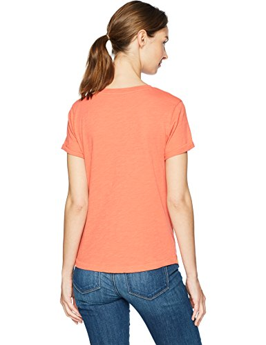 Lucky Brand Women's All Over Printed Pineapple TEE, Coral, L