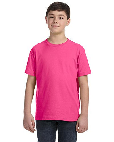 Youth Fine Jersey T-Shirt - HOT PINK - M Youth Fine Jersey T-Shirt