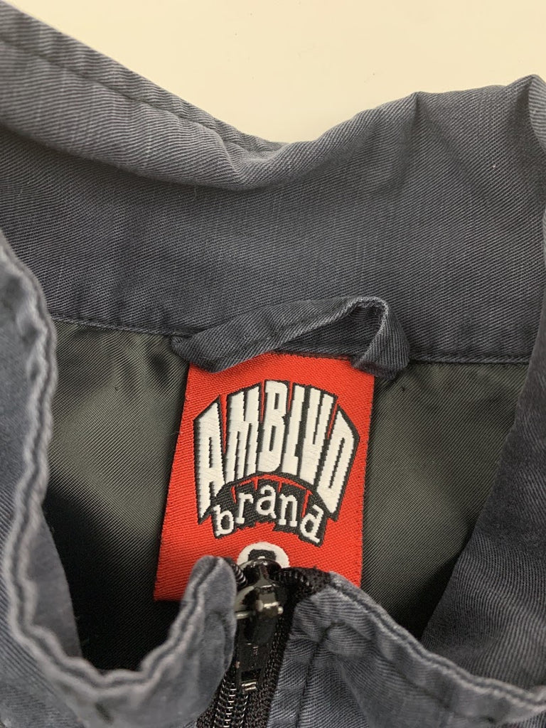 Amblvd Brand Men's Navy Racing Patch Formula 1 Cosplay Jacket Size S
