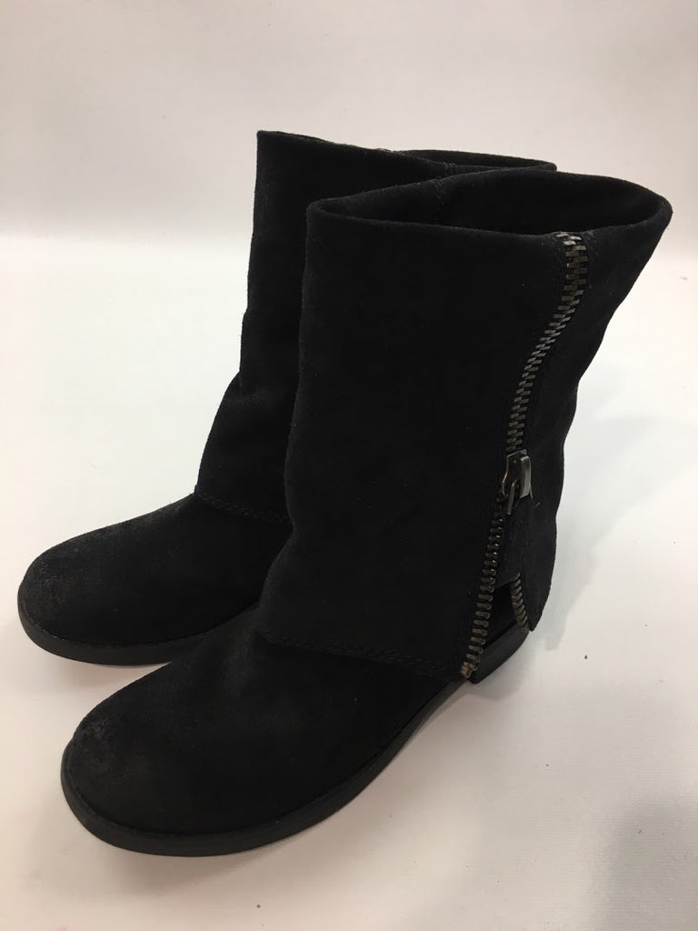 Nine West Women's Black Fold Over Thomasina Mid-Calf Boots Size 5.5