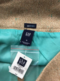 NWT Gap Women's Beige Stretch Lined A-Line Skirt Size 10