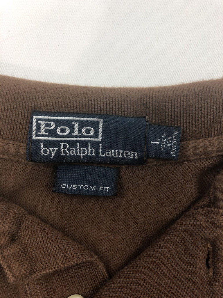 Polo By Ralph Lauren Men's Brown Short Sleeve Polo Size L