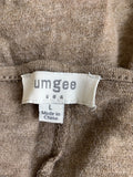 Umgee Women's Brown Long Sleeve Tunic Dress Size L