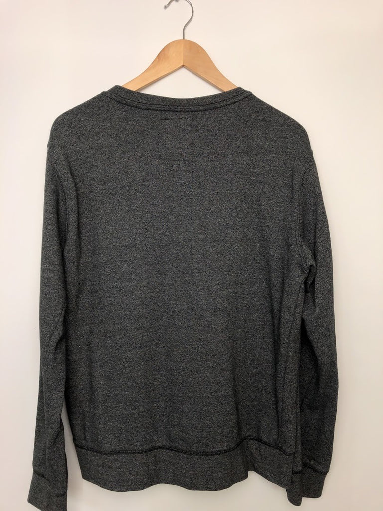 On The Byas Men's Green Gray Thermal Crewneck Sweater Size L