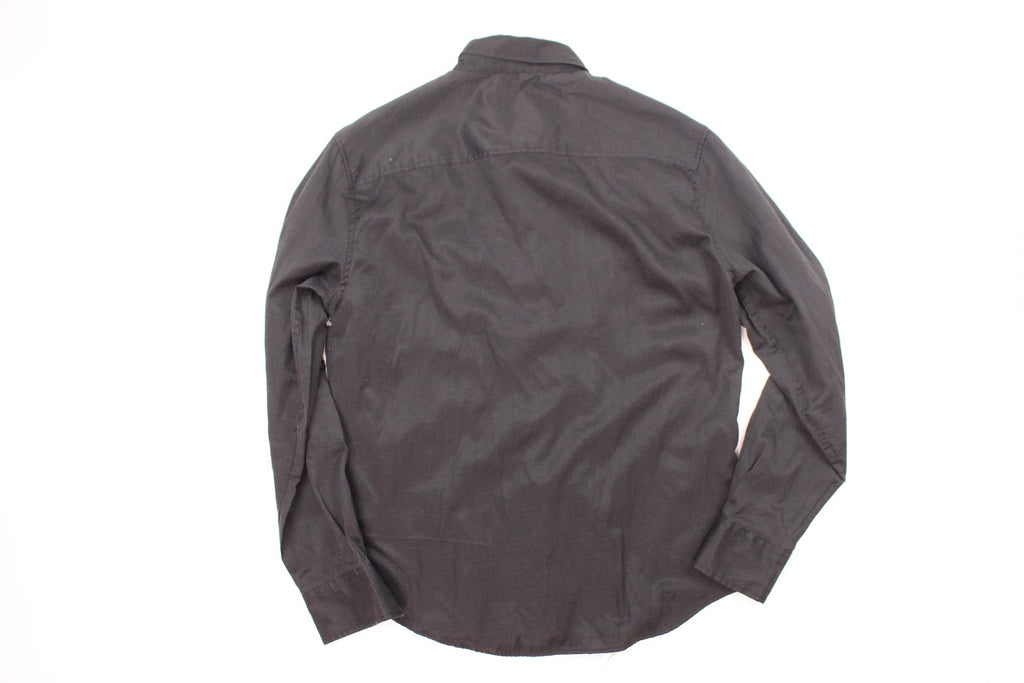 Sovereign Code Men's Black Casual Long Sleeve Button-Front Shirt Size L