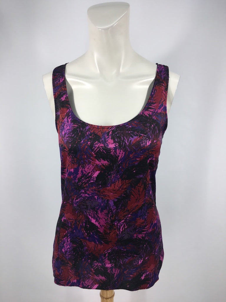 Express Women's Purple Feathers Polyester Tank Cami Top Size S