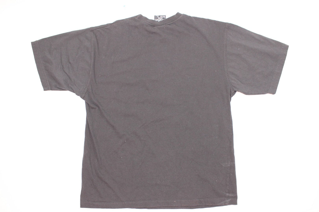 Avirex Men's Gray Embroider Short Sleeve Graphic Tee Shirt Size L